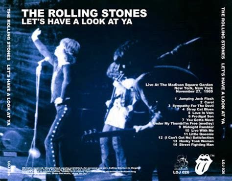 a look back at rolling stones let it bleed the rolling stones let s have a look at ya madison square garden new york usa november 27