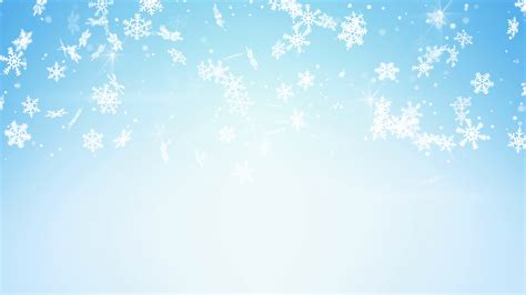 snowfall on light blue seamless loop christmas background