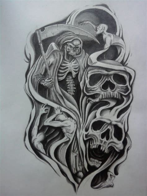 skull sleeve tattoo designs for men sleeves for tribal half sleeve designs