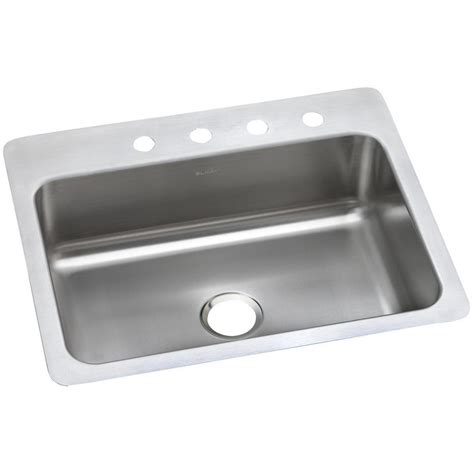 dayton stainless steel sinks elkay dayton dual mount stainless steel 27 in 4