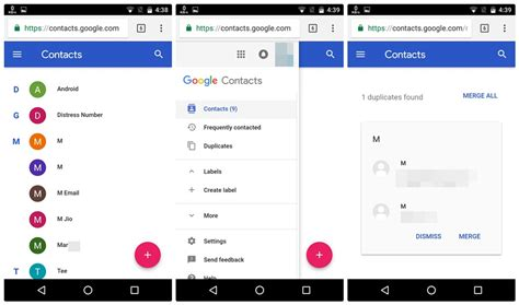 how to merge or delete duplicate contacts on android the android soul