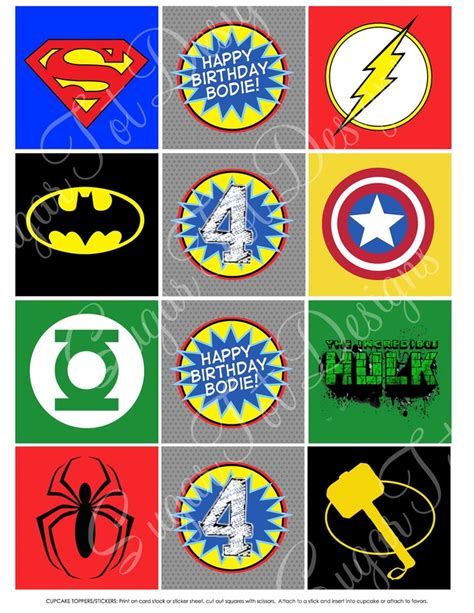 printable avengers labels superhero cupcake toppers superhero labels avengers