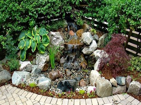 Small Water Features Backyard by Small Pond With Waterfall Small Backyard Water Feature