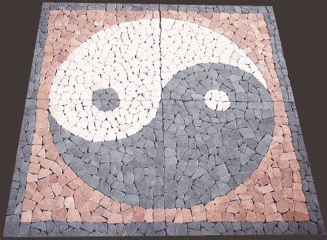 ying yang terrasse mosa 239 que en bleue et calcaire import de turquie