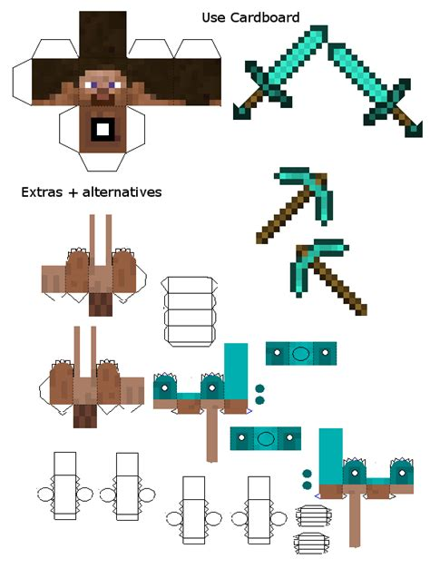 Papercraft Generator - papercraft steve advanced