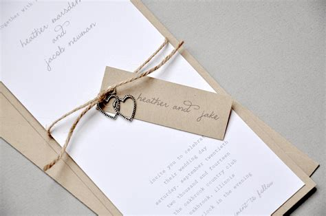 rustic twine wedding invitations rustic modern wedding invitations with twine and silver hearts onewed