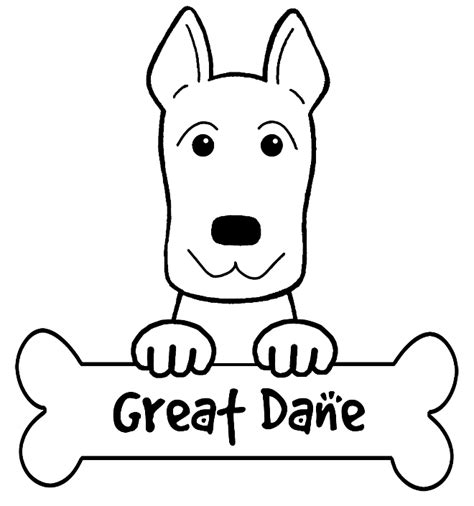 great sheets great dane head free coloring pages