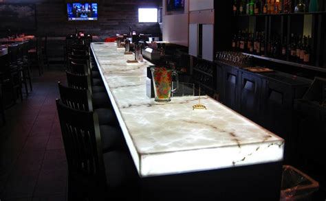Lighted Bar Top by Led Panel Light Backlit Onyx Bar Bar