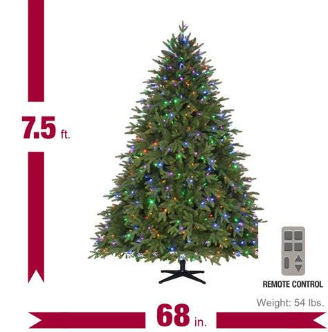 home accents holiday 75 pre lit monterey fir tree replacement lights home accents 7 5 ft pre lit led monterey fir pe set artificial tree