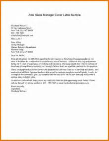 Sales Manager Resume Cover Letter sales manager cover letter sample area sales manager cover letter