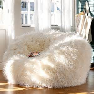 Chairs Cover Alfa Img Showing Gt White Fur Bean Bags