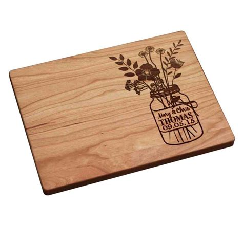 Personalized Handmade Gifts - custom engraved cutting board as a handmade wedding gift
