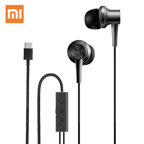 Earphone Usb Type C With Mic Volume For Letv Smartphone aliexpress buy original xiaomi mi anc earphones hybrid usb type c charging free mic line
