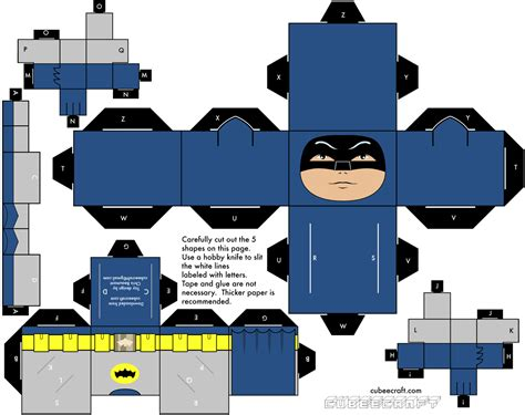 Papercraft Batman - cubee cubes figures on paper toys papercraft