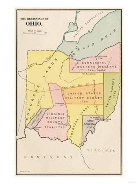 Land Division and Early Settlements in Ohio Territory ...