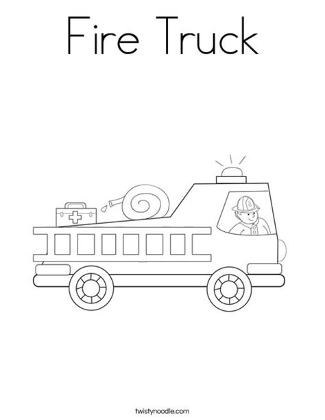 fire engine coloring page picture fire free engine image