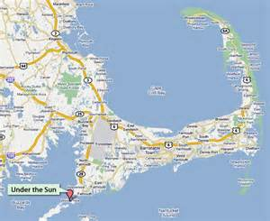 Map Cape Cod Ma - under the sun pottery jewelery clothing and so much more