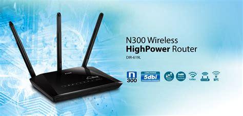 Router Wireless Reapeater N300 Dlink Dir 619l 4 Lan 3 Antena dir 619l n300 high power wireless routerd link