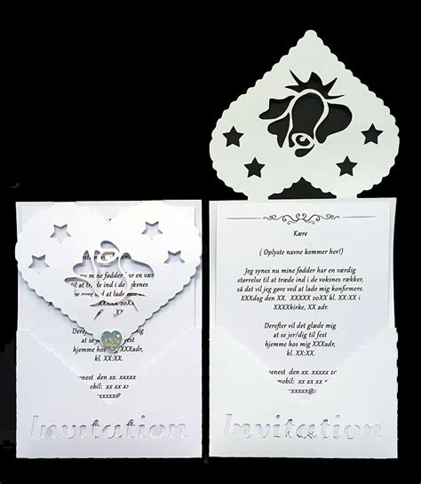 design konfirmation invitation elegant delux invitation konfirmation nr 3 invitationer
