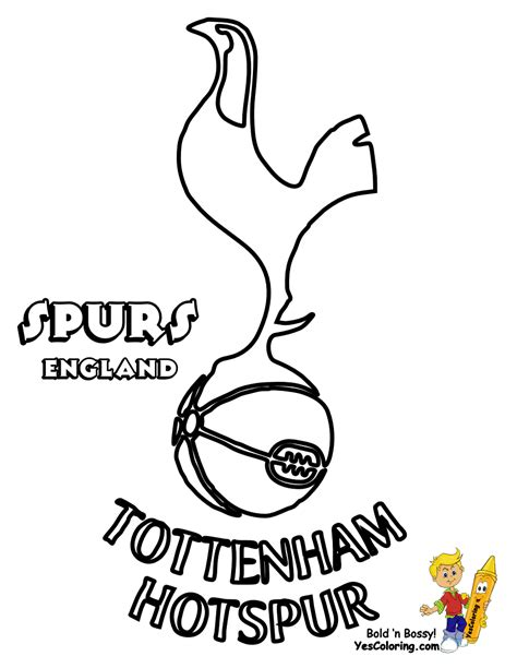 free coloring pages of tottenham football badge