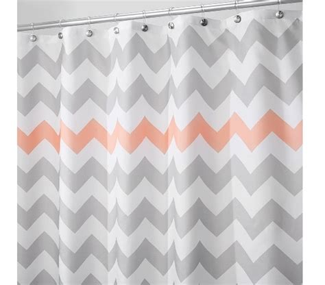 coral chevron shower curtain ind lgc 43024 3 jpg