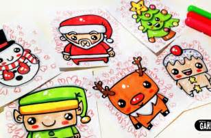 cute christmas animal drawings