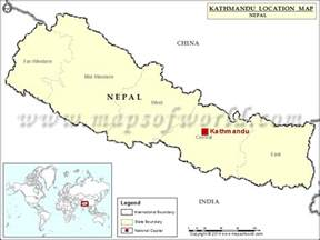 Location Of Nepal In World Map by Where Is Kathmandu Location Of Kathmandu In Nepal Map