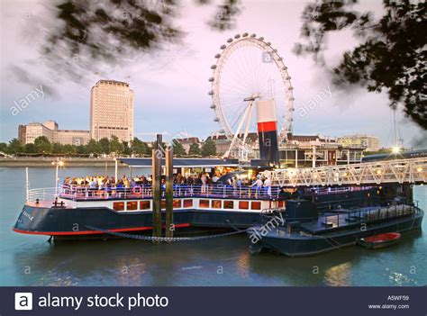 thames river cruise embankment the tattershall castle pub boat moored on the embankment