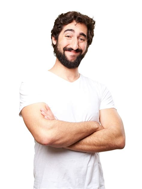 this is one happy guy this is the happiest man that i close up of happy man with white t shirt photo free download