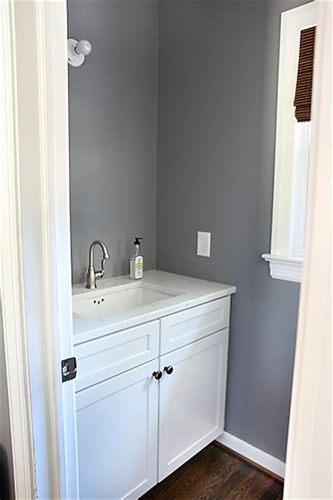 bathroom wall colors with white cabinets half bathroom progress 7thhouseontheleft com wall