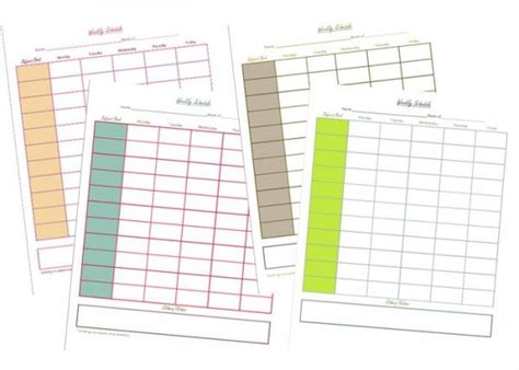 homeschool planner printable 1000 ideas about weekly schedule on pinterest planners