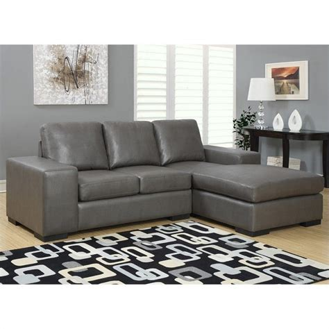 charcoal gray sofa leather sofa lounger in charcoal gray i8200gy