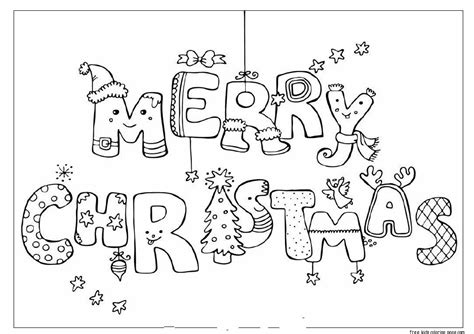Merry Colouring Pages Printable Merry Christmas Print Out Coloring Pagesfree Printable