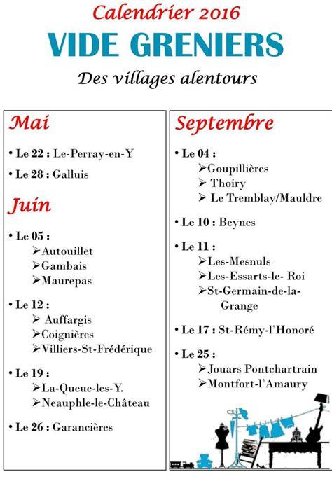Calendrier Vide Grenier Calendrier Vide Greniers 2016 De La Mairie De Gambais