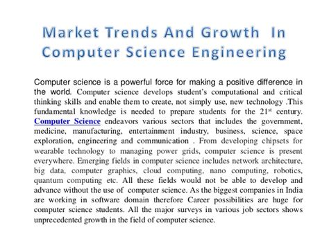 market trends and growth in computer science engineering