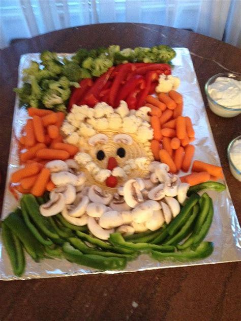 vegetable santa claus platter the 25 best veggie tray ideas on veggie vegetable trays and