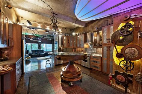steam living room steunk apartment decorating ideas room decorating