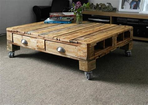 Retro Style Coffee Table Pallet Retro Style Coffee Table Pallet Furniture Diy
