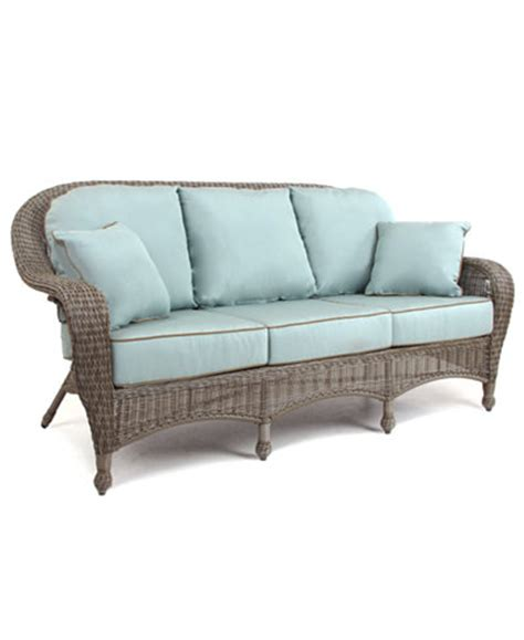 wicker outdoor couch sandy cove wicker outdoor sofa furniture macy s