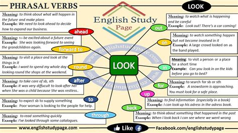 layout phrasal verb phrasal verbs look english study page