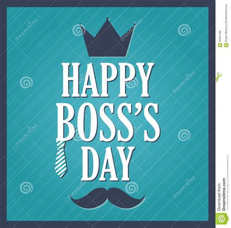 bosses day card template day greeting template blue background blue