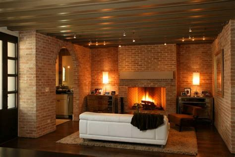 decorate living room wall 25 brick wall designs decor ideas for living room