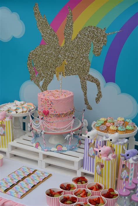Ideas For Backyard Birthday Party Tully S Rainbow Unicorn Birthday Party Stuff Mums Like