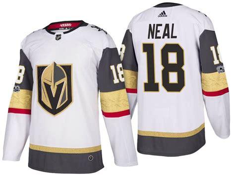 Vegas Golden Knights #18 James Neal White 2017 2018 Season