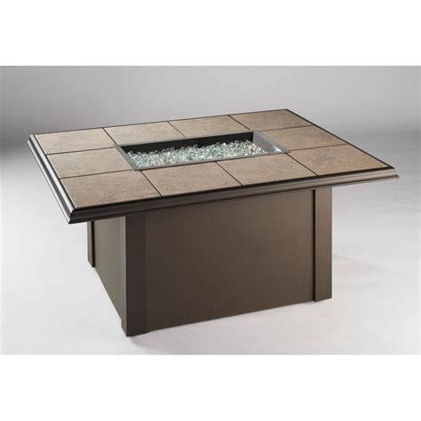 Metal Pit Table Outdoor Greatroom Napa Valley Gas Pit Table Brown