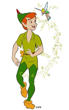 peter pan amp tinker bell clip art disney clip art galore