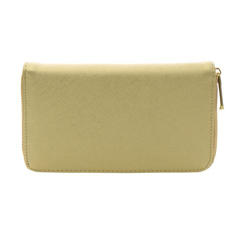 Walet Gold faux leather wallet 35803 gold