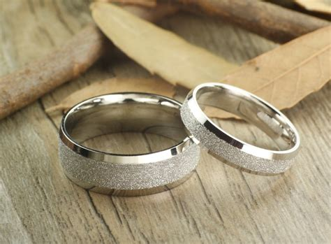 Handcrafted Wedding Rings - handmade wedding bands rings set titanium rings