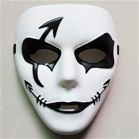 Scary Mask Topeng Seram Rambut Putih topeng muka penuh hitam putih seram hantu scary