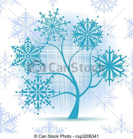 winter tree snowflakes stock vector winter tree snowflakes vector clip search illustration drawings and